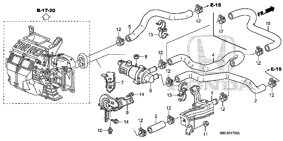79721-SNC-A41 - HOSE A, WATER INLET