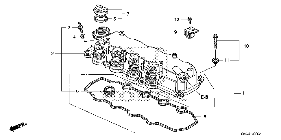 32744-RMX-000 - STAY D, ENGINE HARNESS
