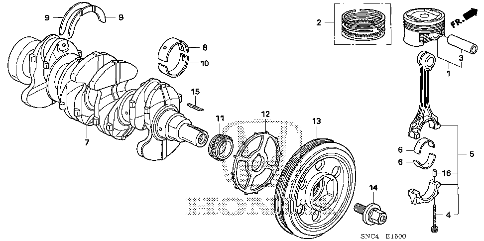 13210-RB0-000 - ROD, CONNECTING