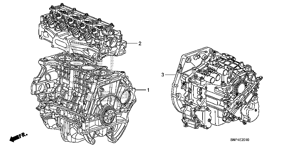 10002-RNE-A01 - GENERAL ASSY., CYLINDER BLOCK (DOT)