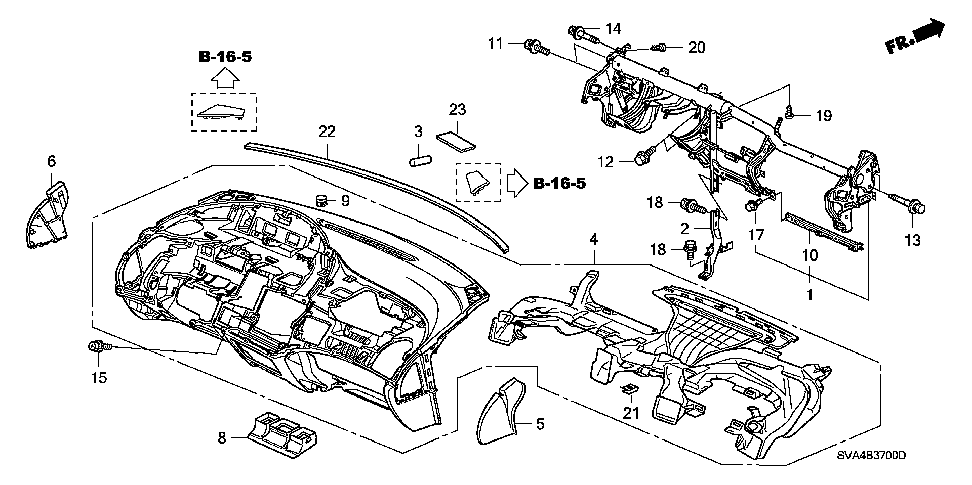 61351-SVA-A00ZZ - EXTENSION, STEERING CENTER PIPE