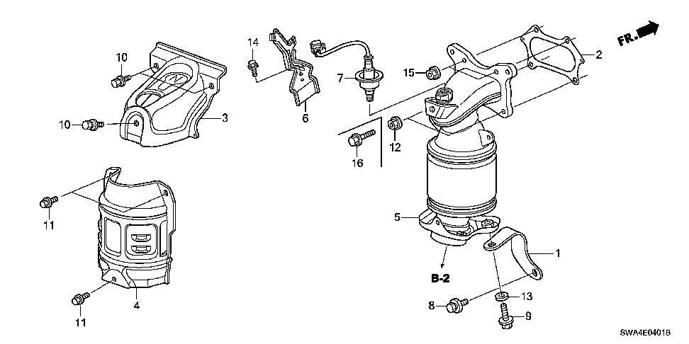 36531-R40-A01 - SENSOR, AIR FUEL RATIO