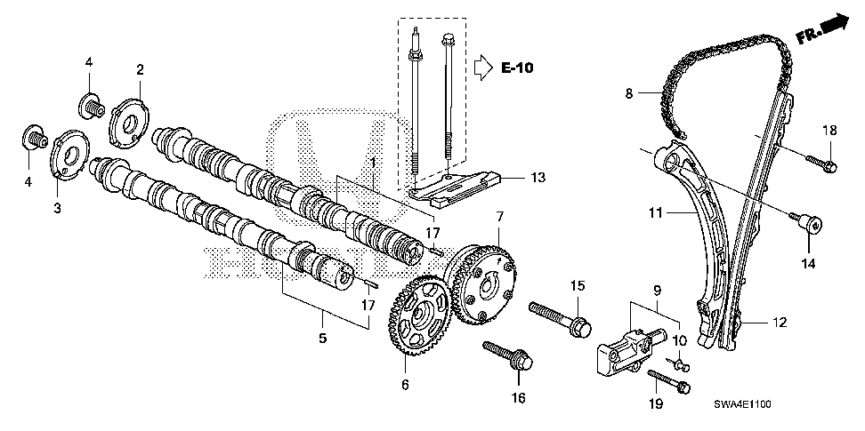 14110-RZA-000 - CAMSHAFT, IN.
