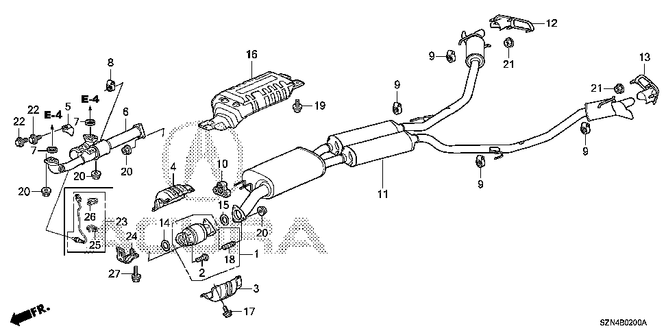 18208-STX-A00 - COVER, EX. MOUNTING