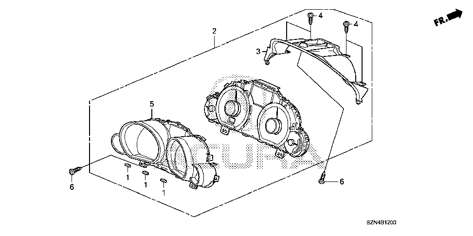 78100-SZN-A41 - METER ASSY., COMBINATION
