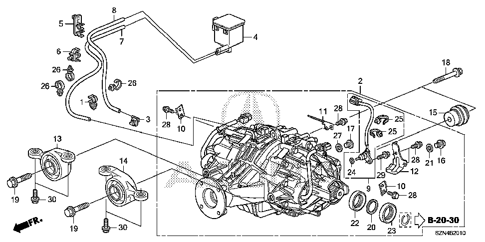 50740-STX-A51 - RUBBER, L. RR. DIFFERENTIAL MOUNTING