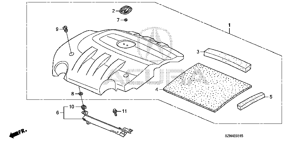 17141-RYE-A00 - RUBBER A, ENGINE COVER