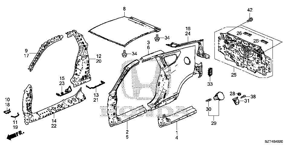 63216-SZT-G01 - SEPARATOR, R. CENTER PILLAR (OUTER)