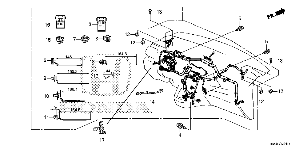 32117-T0A-A60 - WIRE HARNESS, INSTRUMENT