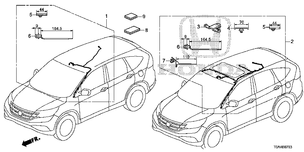 32156-T0A-A00 - WIRE, SUNROOF