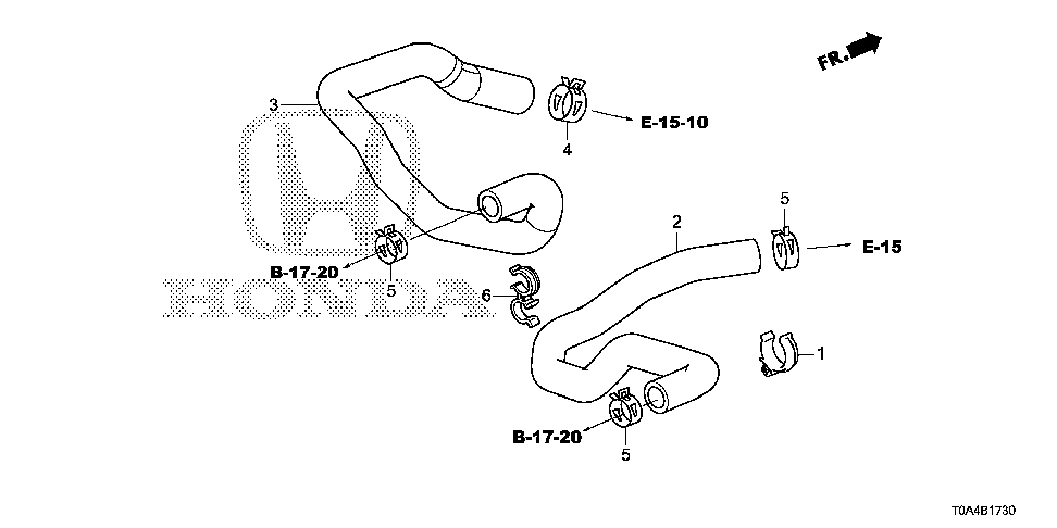 79721-T0G-A00 - HOSE, WATER INLET