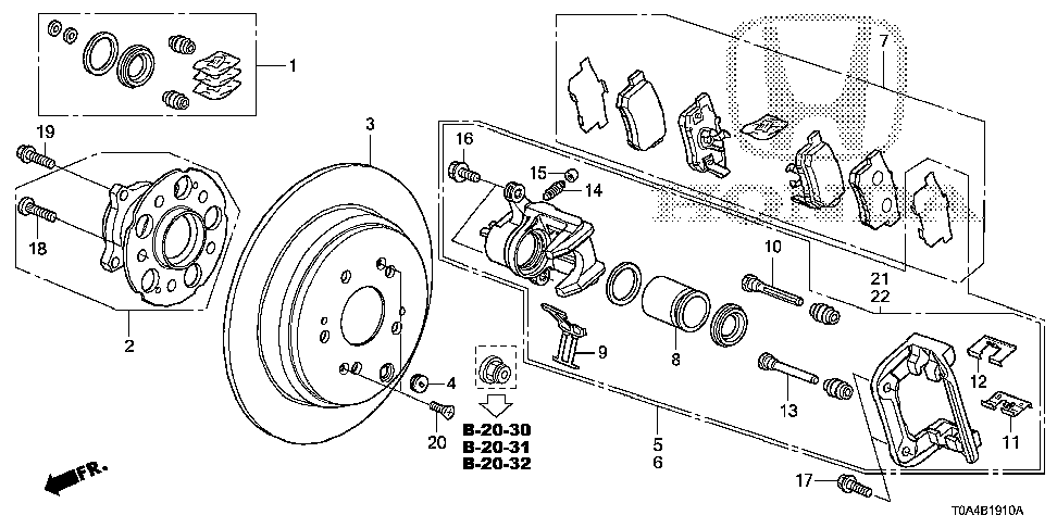 42510-T0A-A00 - DISK, RR. BRAKE DRUM IN