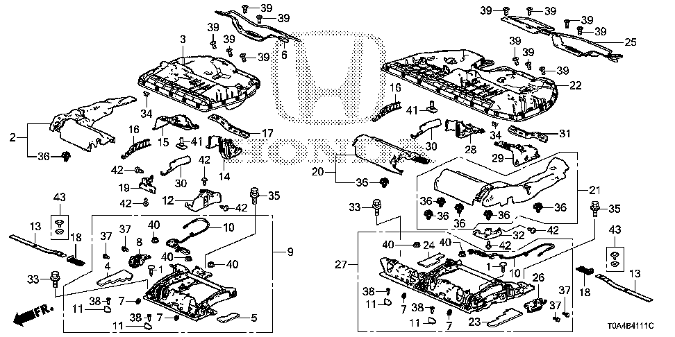 82213-T0A-A01 - CABLE, SIDE OPERATION CONTROL