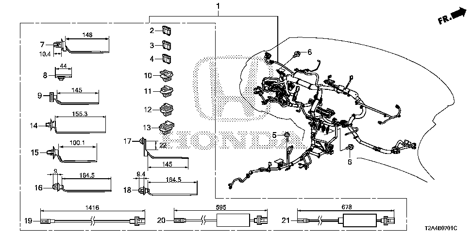 32117-T2A-A40 - WIRE HARNESS, INSTRUMENT