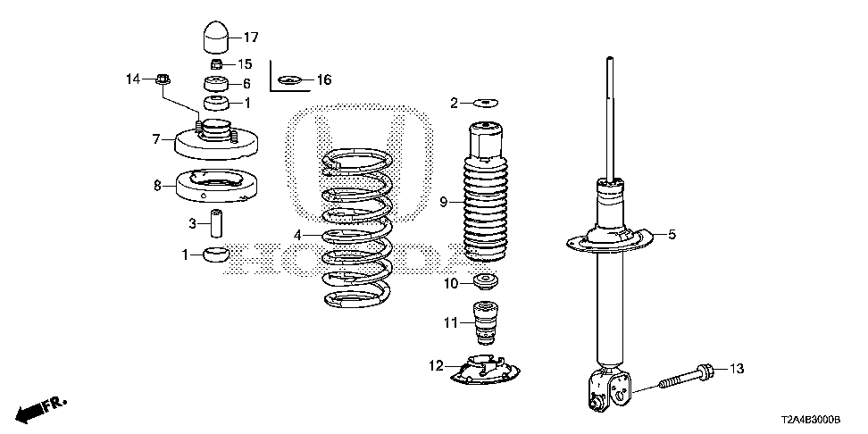 52675-T2A-A01 - BASE, RR. SHOCK ABSORBER MOUNTING
