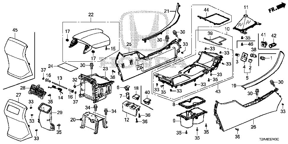 77294-T2F-A01 - RING, CUP HOLDER