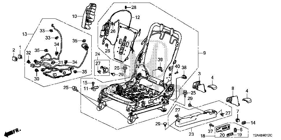 81654-T2F-A31 - COVER, R. TRACK END (UPPER)
