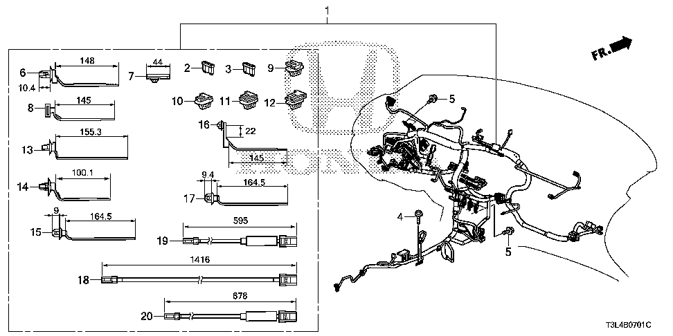 32117-T3M-A23 - WIRE HARNESS, INSTRUMENT