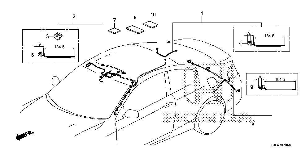32155-T3L-A21 - WIRE HARNESS, SUNROOF