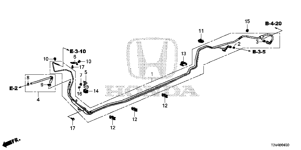 17761-T3V-L00 - STAY, FUEL PIPE (A)