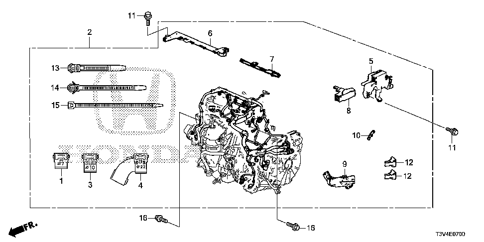 32123-5K0-A00 - HOLDER, ENGINE WIRE HARNESS