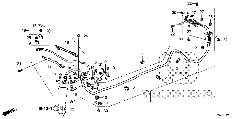 38895-5K1-A10 - STAY, COMPRESSOR HIGH VOLTAGE CONNECTING
