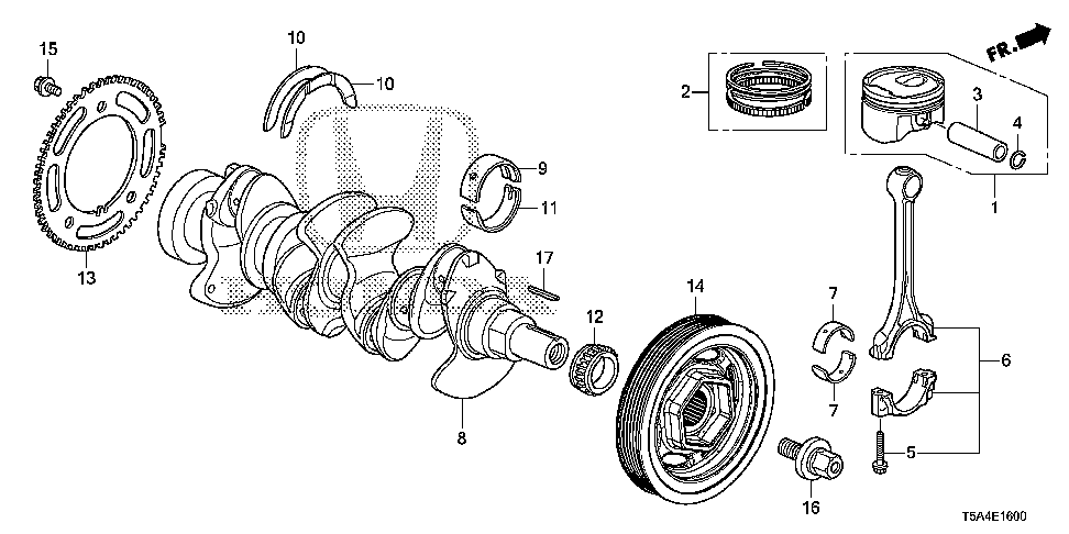 13211-5R0-004 - BEARING A, CONNECTING ROD (BLUE) (TAIHO)
