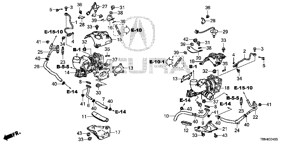 18905-58G-A00 - STAY, L. TURBOCHARGER
