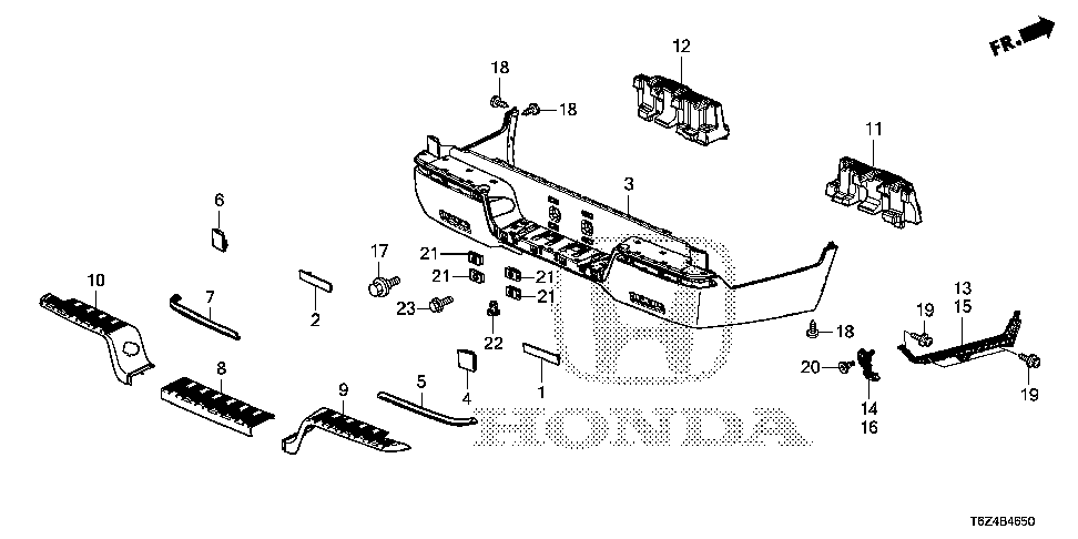 71575-T6Z-A00 - SUPPORT, L. RR. STEP