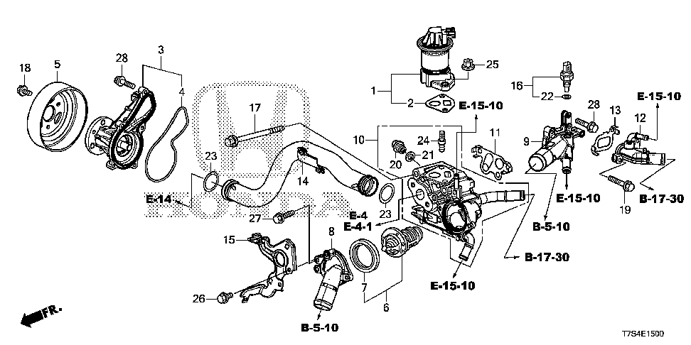 19425-R6A-U50 - COVER, HEATER OUTLET