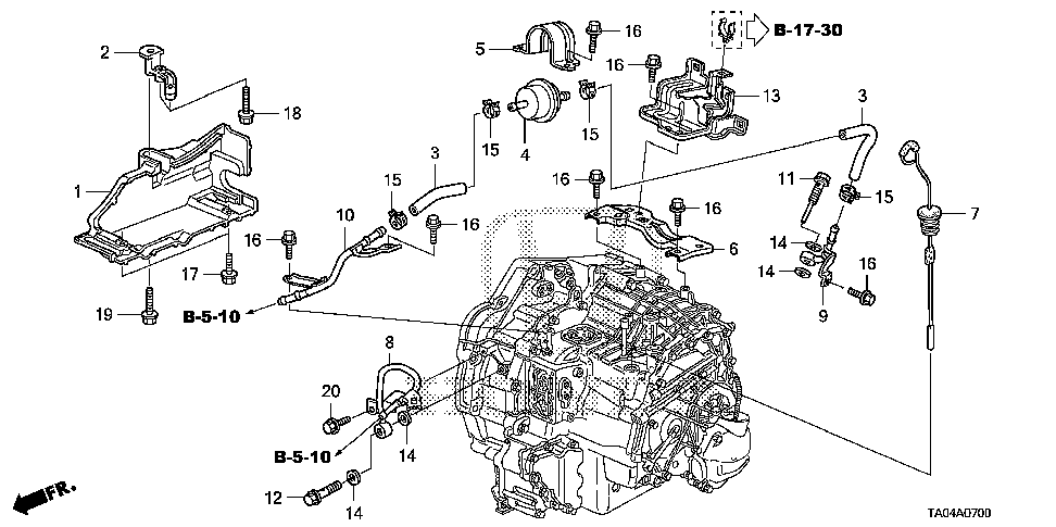 32748-R40-A50 - STAY, ENGINE HARNESS