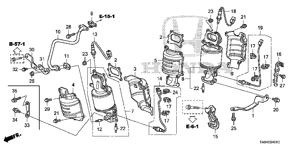 18190-R70-A00 - CONVERTER, FR. PRIMARY