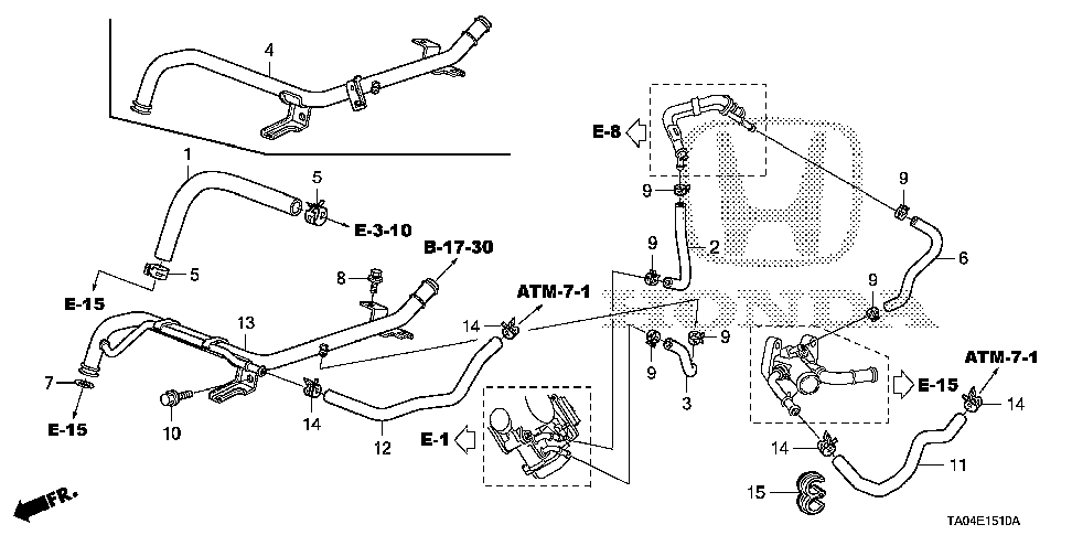 19510-R40-A00 - PIPE, HEATER
