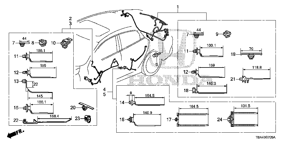 32751-TBA-A10 - WIRE HARNESS, DRIVER DOOR