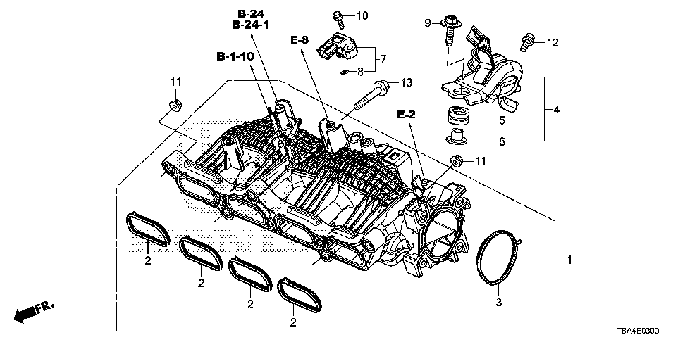 17213-59B-000 - RUBBER, IN. MANIFOLD MOUNTING