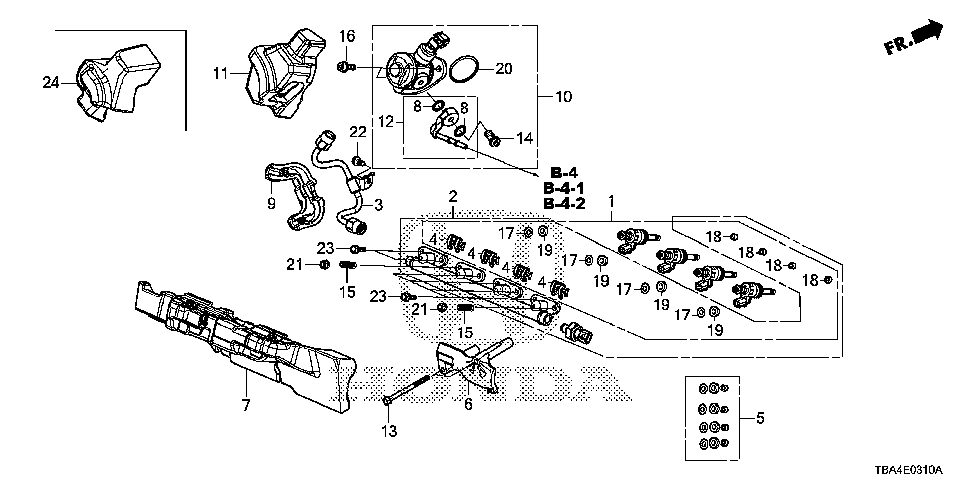 16012-59B-315 - PIPE SET, FUEL JOINT