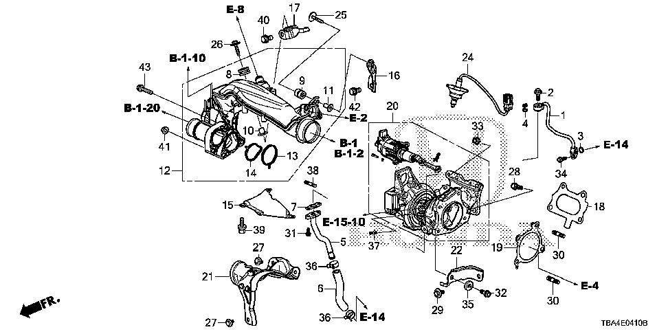 17212-5AA-000 - RUBBER, TURBOCHARGER JOINT MOUNTING