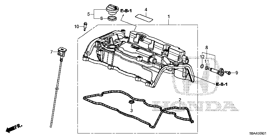 12341-RPY-G01 - GASKET, HEAD COVER (A)