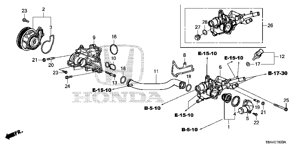 19311-59B-000 - COVER, THERMOSTAT
