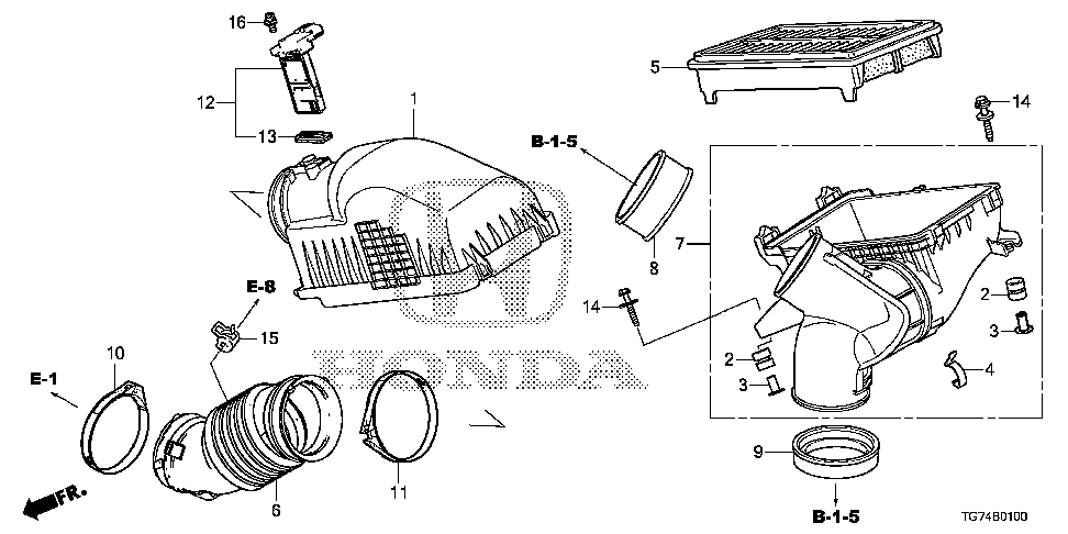 17211-5J6-A10 - COVER, AIR CLEANER