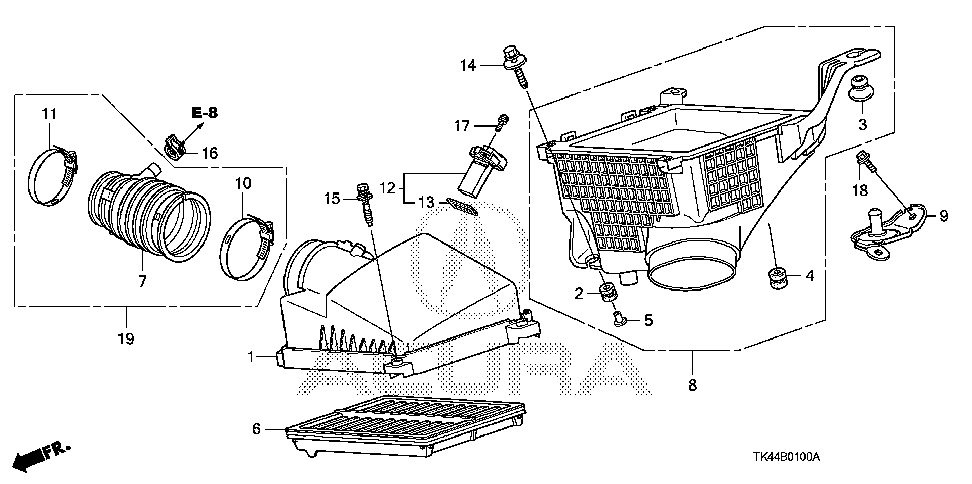 17211-RK1-A01 - COVER, AIR CLEANER