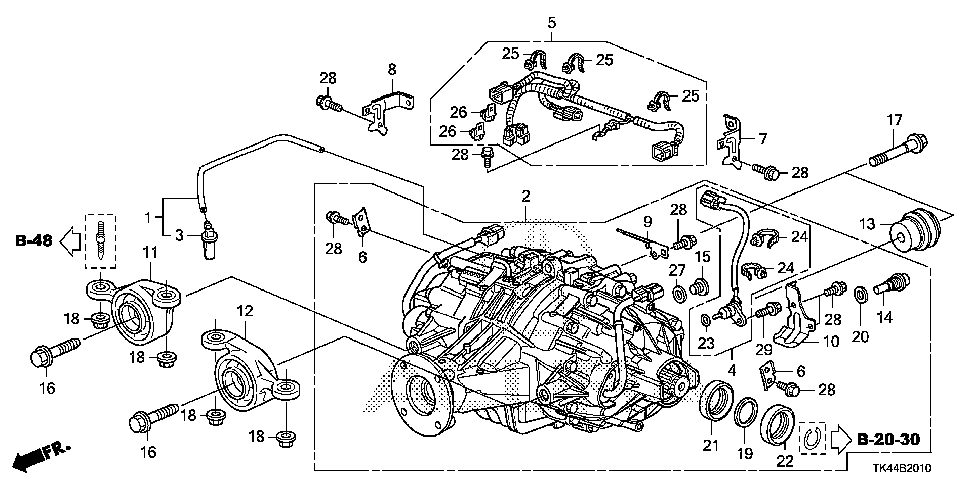 50710-TK5-A51 - RUBBER, R. RR. DIFFERENTIAL MOUNTING (FR)