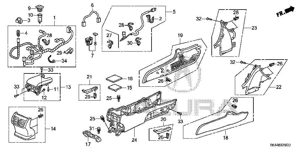 83402-TK4-A03ZF - ARMREST ASSY., RR. CONSOLE (TYPEF)