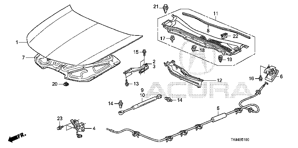 74225-TK4-A01 - UMBRELLA, AIR CONDITIONER HOLE