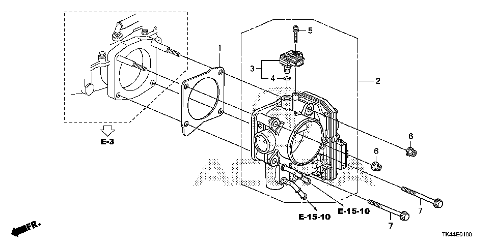 16400-RK2-A01 - THROTTLE BODY, ELECTRONIC CONTROL (GMD8C)