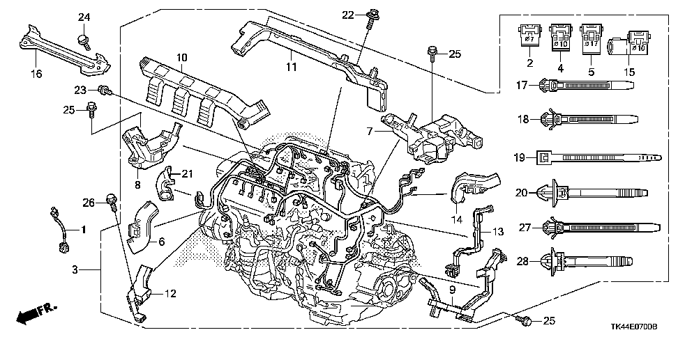 32110-RK2-A10 - WIRE HARNESS, ENGINE