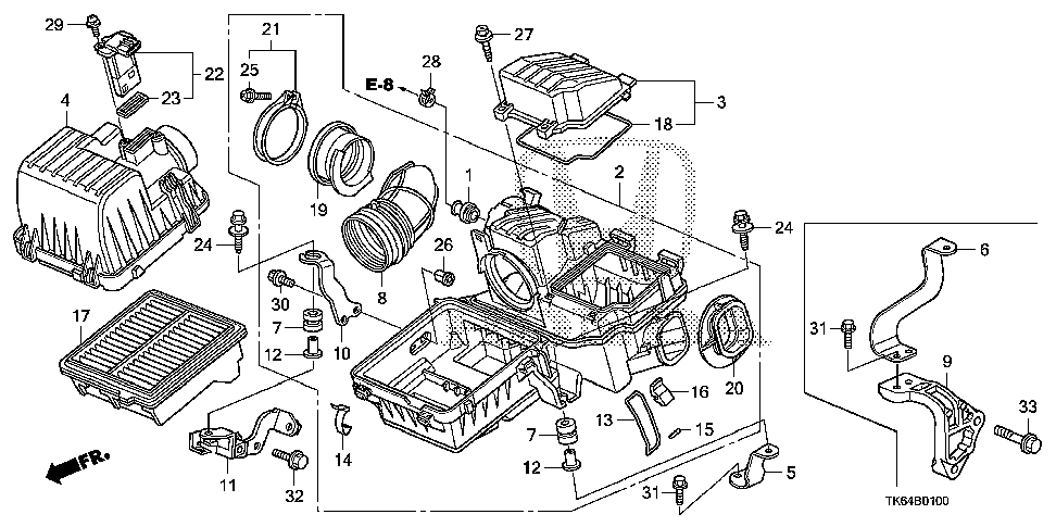 17228-RB0-000 - JOINT, THROTTLE RUBBER