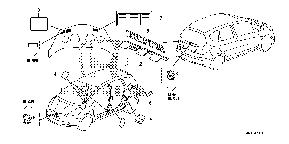 42762-TK6-A30 - PLACARD, SPECIFICATION (USA)