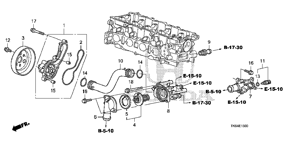 19311-RB0-000 - COVER, THERMOSTAT