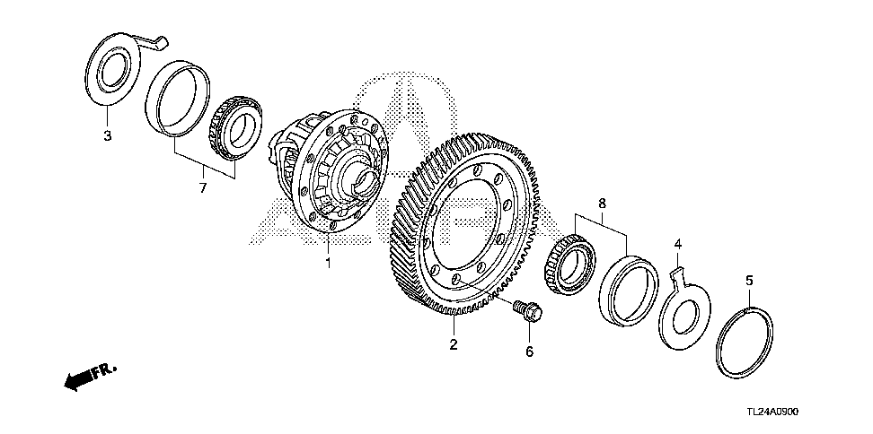 41100-R5M-000 - DIFFERENTIAL